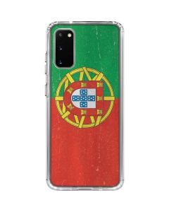 Portugal Flag Distressed Galaxy S20 Clear Case