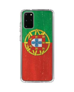 Portugal Flag Distressed Galaxy S20 Plus Clear Case