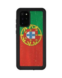 Portugal Flag Distressed Galaxy S20 Plus Waterproof Case