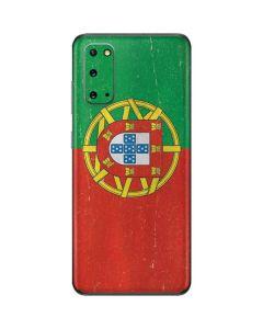 Portugal Flag Distressed Galaxy S20 Skin