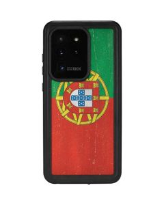 Portugal Flag Distressed Galaxy S20 Ultra 5G Waterproof Case