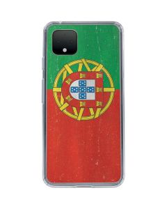 Portugal Flag Distressed Google Pixel 4 Clear Case