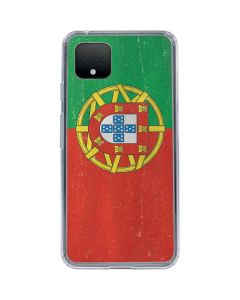 Portugal Flag Distressed Google Pixel 4 XL Clear Case