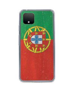 Portugal Flag Distressed Google Pixel 4 XL Clear Case