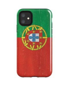 Portugal Flag Distressed iPhone 11 Impact Case