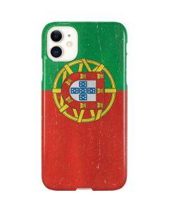 Portugal Flag Distressed iPhone 11 Lite Case