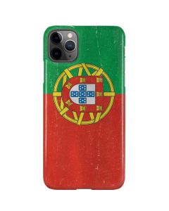 Portugal Flag Distressed iPhone 11 Pro Max Lite Case
