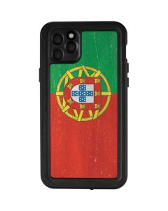 Portugal Flag Distressed iPhone 11 Pro Max Waterproof Case