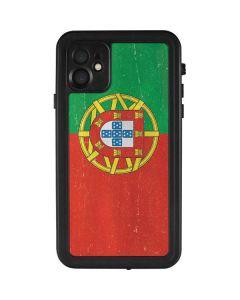 Portugal Flag Distressed iPhone 11 Waterproof Case