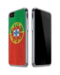Portugal Flag Distressed iPhone SE Clear Case