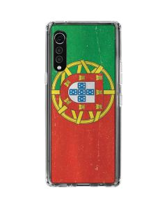 Portugal Flag Distressed LG Velvet Clear Case