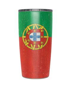 Portugal Flag Distressed Yeti 20oz Tumbler Skin
