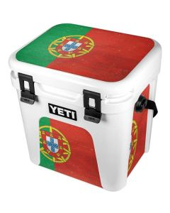 Portugal Flag Distressed YETI Roadie 24 Hard Cooler Skin