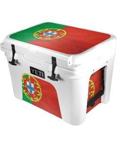 Portugal Flag Distressed YETI Tundra 35 Hard Cooler Skin