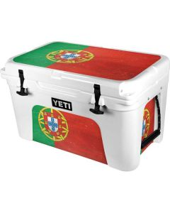 Portugal Flag Distressed YETI Tundra 45 Hard Cooler Skin