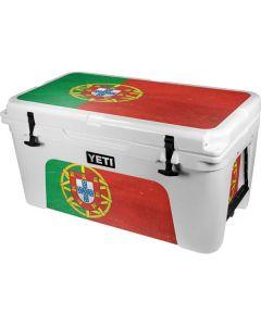 Portugal Flag Distressed YETI Tundra 65 Hard Cooler Skin