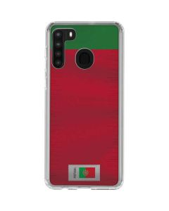 Portugal Soccer Flag Galaxy A21 Clear Case