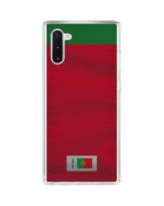 Portugal Soccer Flag Galaxy Note 10 Clear Case