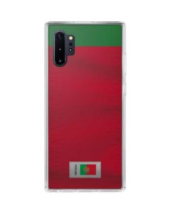 Portugal Soccer Flag Galaxy Note 10 Plus Clear Case