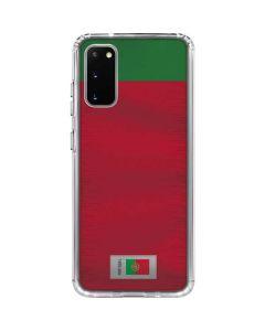 Portugal Soccer Flag Galaxy S20 Clear Case