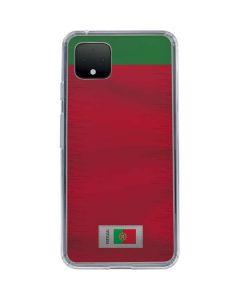 Portugal Soccer Flag Google Pixel 4 XL Clear Case