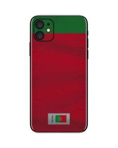 Portugal Soccer Flag iPhone 11 Skin