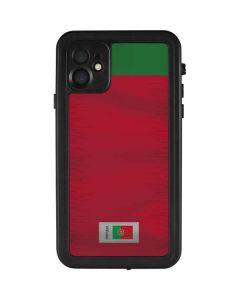 Portugal Soccer Flag iPhone 11 Waterproof Case