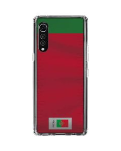 Portugal Soccer Flag LG Velvet Clear Case