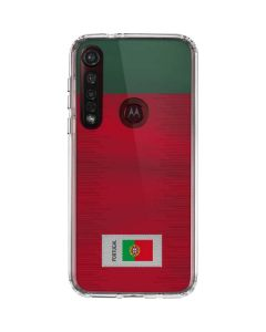Portugal Soccer Flag Moto G8 Plus Clear Case