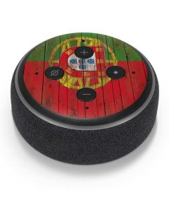 Portuguese Flag Dark Wood Amazon Echo Dot Skin