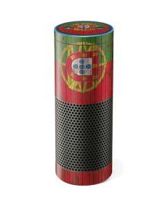 Portuguese Flag Dark Wood Amazon Echo Skin