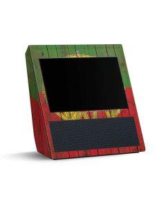 Portuguese Flag Dark Wood Amazon Echo Show Skin