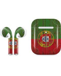 Portuguese Flag Dark Wood Apple AirPods 2 Skin