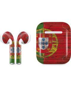 Portuguese Flag Dark Wood Apple AirPods Skin