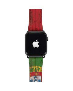 Portuguese Flag Dark Wood Apple Watch Band 38-40mm