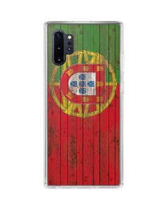 Portuguese Flag Dark Wood Galaxy Note 10 Plus Clear Case