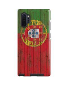 Portuguese Flag Dark Wood Galaxy Note 10 Plus Pro Case