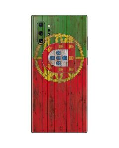 Portuguese Flag Dark Wood Galaxy Note 10 Plus Skin