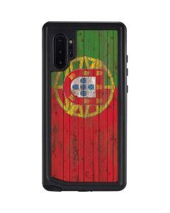 Portuguese Flag Dark Wood Galaxy Note 10 Plus Waterproof Case