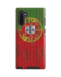 Portuguese Flag Dark Wood Galaxy Note 10 Pro Case