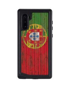 Portuguese Flag Dark Wood Galaxy Note 10 Waterproof Case