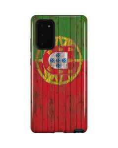 Portuguese Flag Dark Wood Galaxy Note20 5G Pro Case
