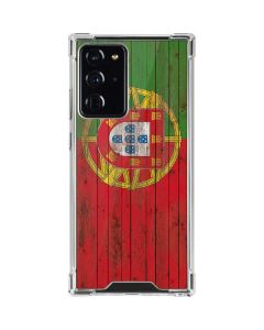 Portuguese Flag Dark Wood Galaxy Note20 Ultra 5G Clear Case