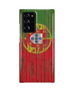 Portuguese Flag Dark Wood Galaxy Note20 Ultra 5G Lite Case