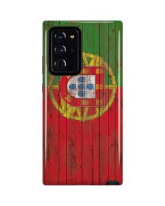 Portuguese Flag Dark Wood Galaxy Note20 Ultra 5G Pro Case