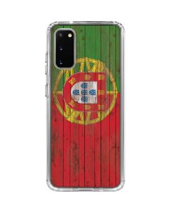 Portuguese Flag Dark Wood Galaxy S20 Clear Case