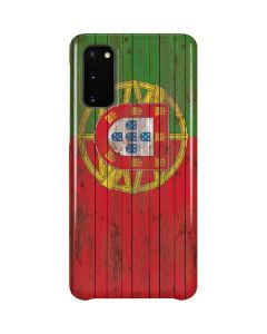 Portuguese Flag Dark Wood Galaxy S20 Lite Case