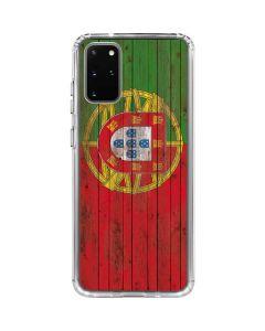 Portuguese Flag Dark Wood Galaxy S20 Plus Clear Case