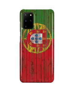 Portuguese Flag Dark Wood Galaxy S20 Plus Lite Case
