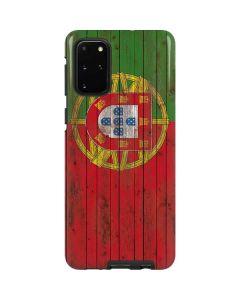 Portuguese Flag Dark Wood Galaxy S20 Plus Pro Case